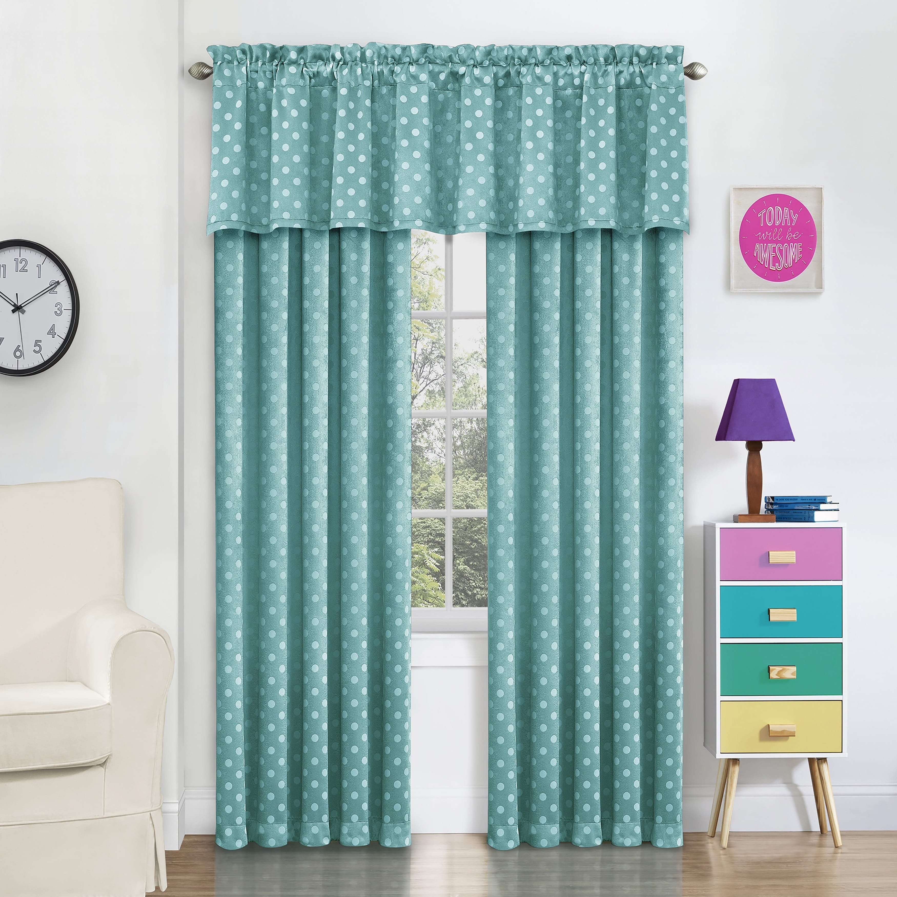 Shop Eclipse Kai Thermaweave Blackout Window Curtain Valance - Free ...