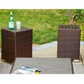 Handy Living Aldrich Brown Indoor/Outdoor 2 Piece Rattan End Table Set