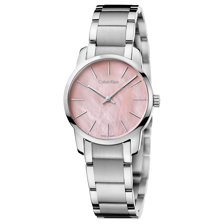 f9826c9a46a Shop Calvin Klein Women s City Stainless Steel Pink Swiss Quartz Watch - Free  Shipping Today - Overstock.com - 15629106