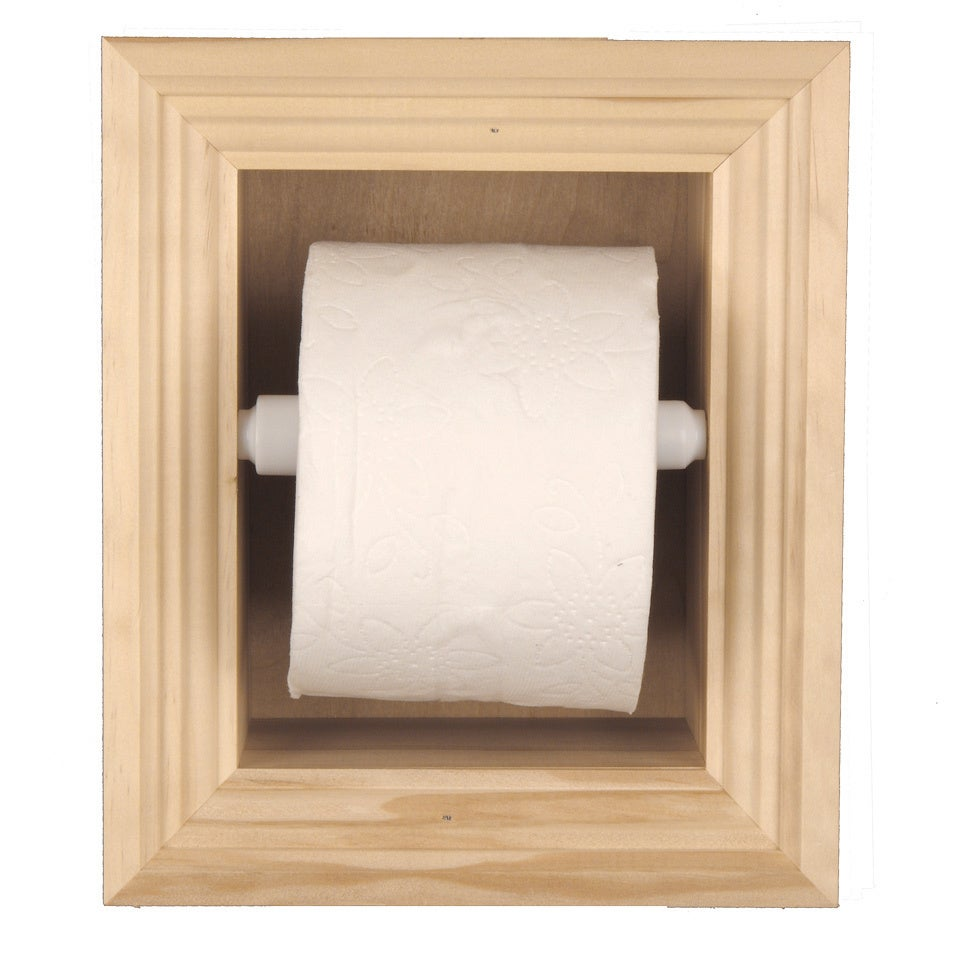 Solid Wood Recessed In Wall Bathroom Toilet Paper Holder Multiple Finishes Free Shipping Today 15630974