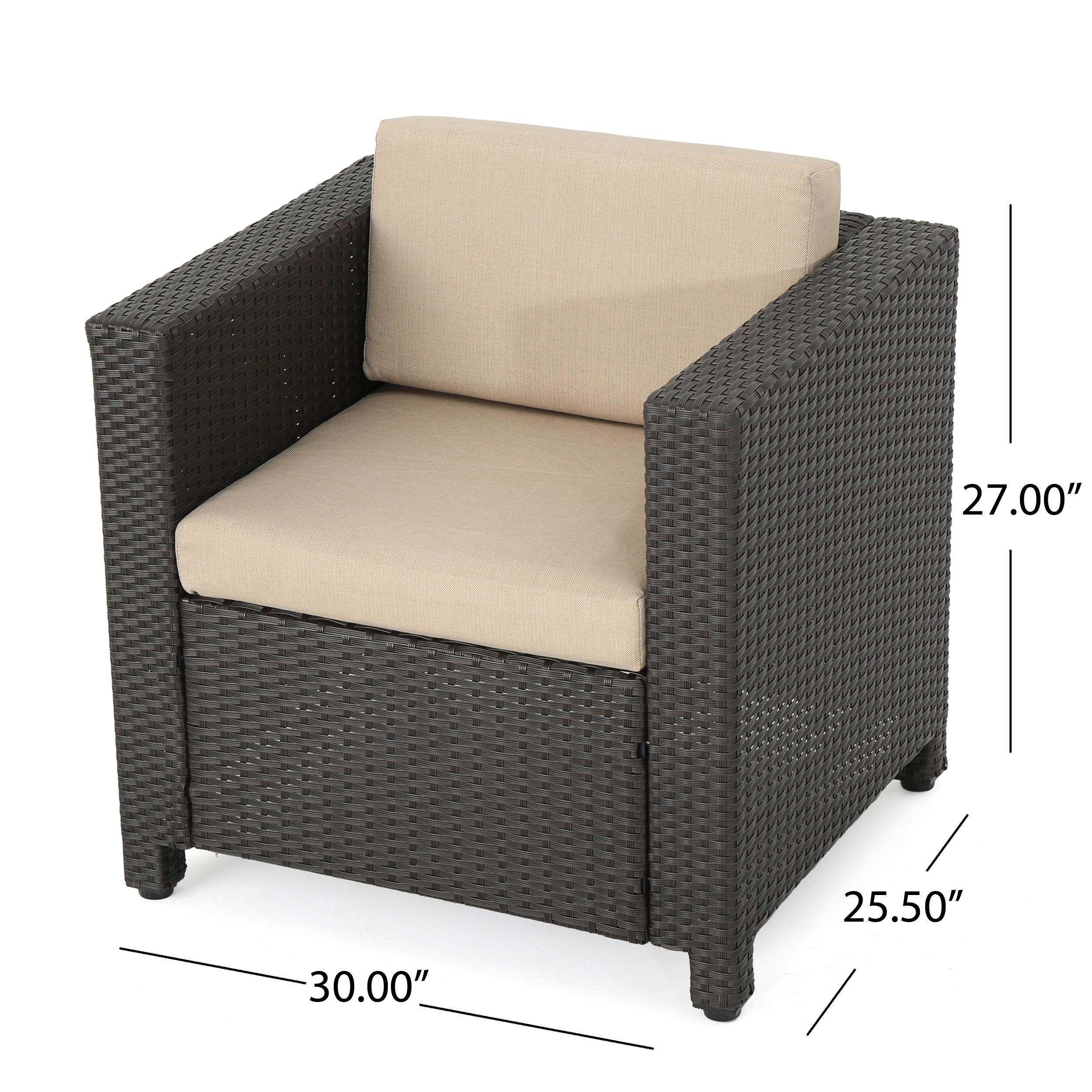 Exceptional Shop Puerta Outdoor Wicker Club Chair With Cushions (Set Of 2) By  Christopher Knight Home   On Sale   Free Shipping Today   Overstock.com    15631272