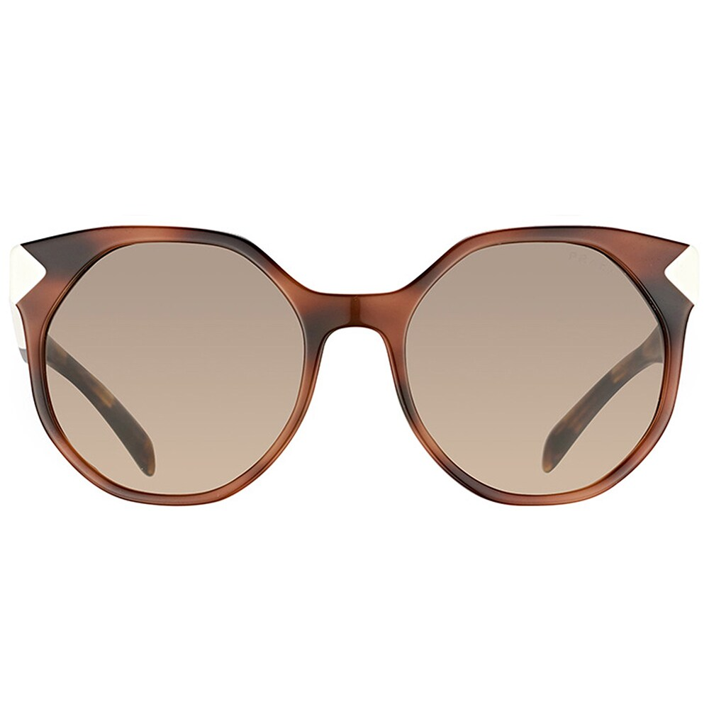 3f87db8c2c9 Shop Prada PR 11TS USG3D0 Havana White Plastic Cat-Eye Sunglasses Brown  Gradient Lens - Free Shipping Today - Overstock - 15634189