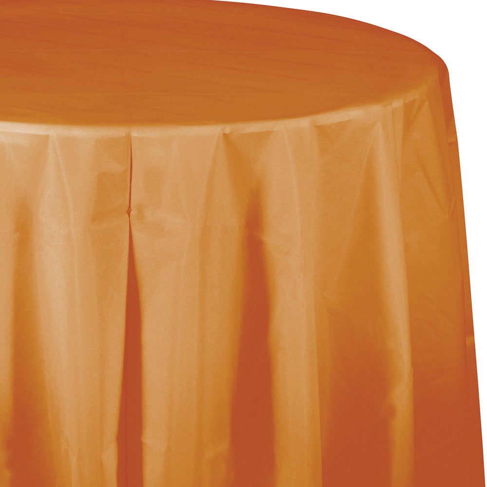 Shop Touch Of Color Tablecovers Plastic Octy Round 82 Inch Pumpkin