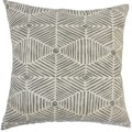"Iakovos Geometric 24"" x 24"" Down Feather Throw Pillow Grey"