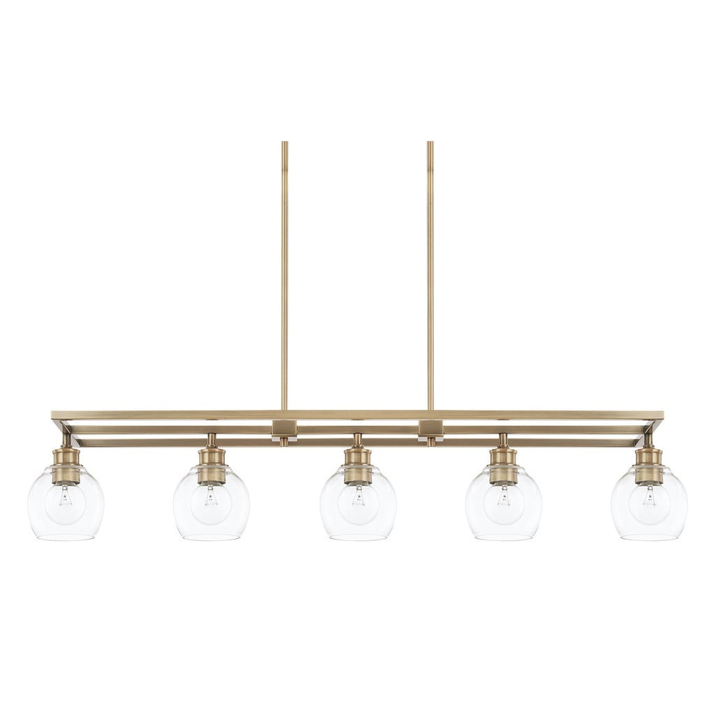 Capital lighting mid century collection 5 light aged brass island capital lighting mid century collection 5 light aged brass island fixture free shipping today overstock 22070454 mozeypictures Gallery