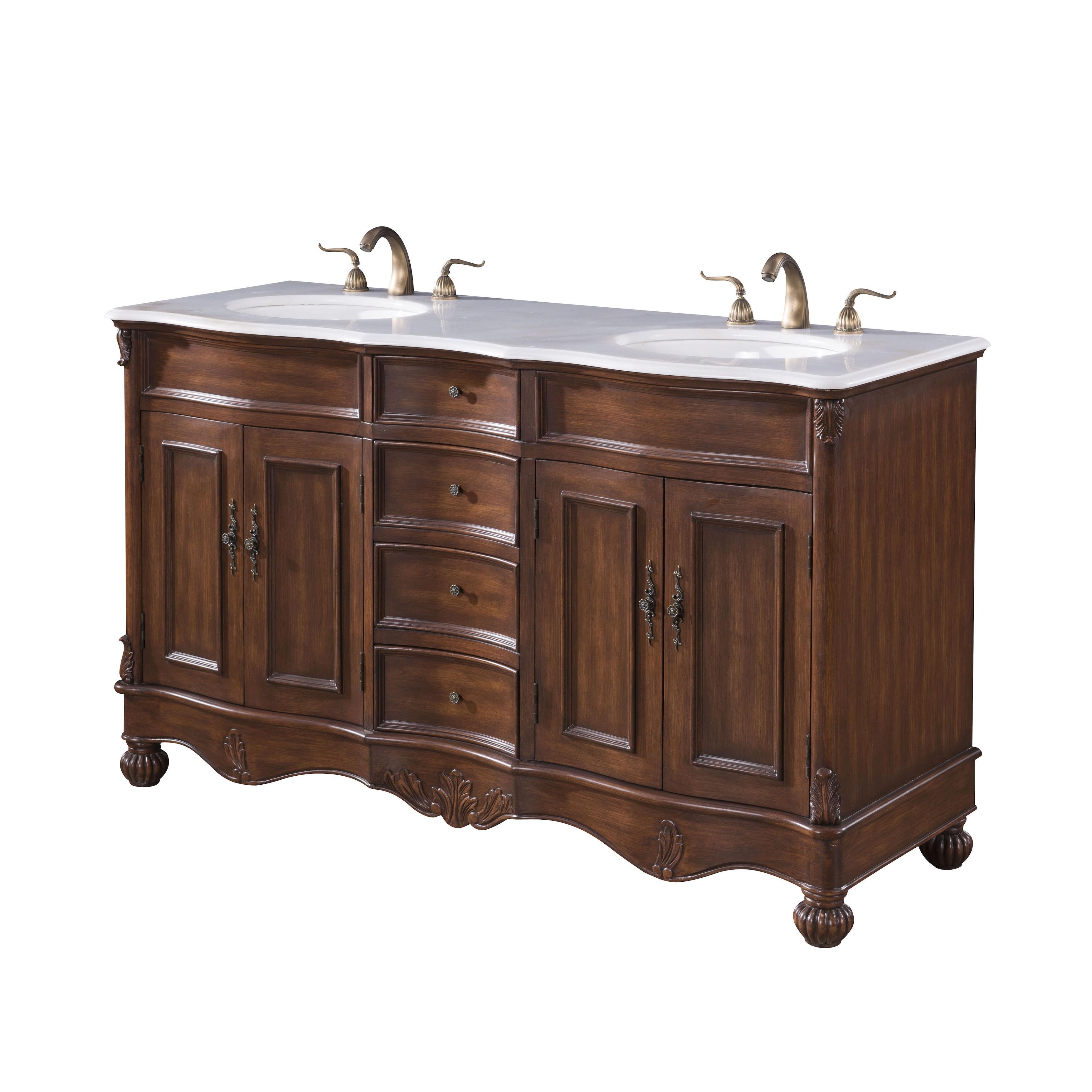 Elegant Lighting Windsor 60-inch Double Bathroom Vanity - Free ...