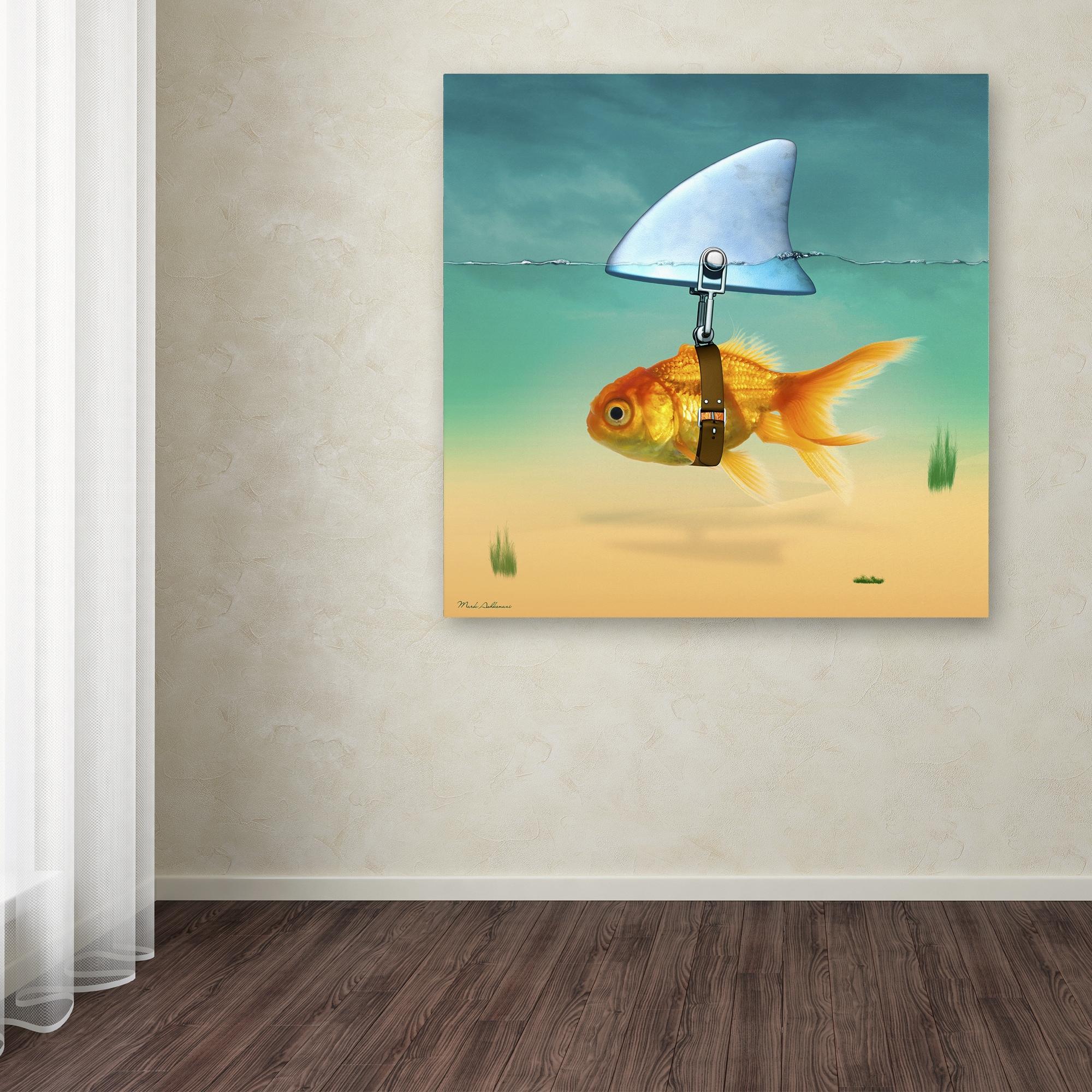 Shop Mark Ashkenazi \'Gold Fish\' Canvas Art - On Sale - Free Shipping ...