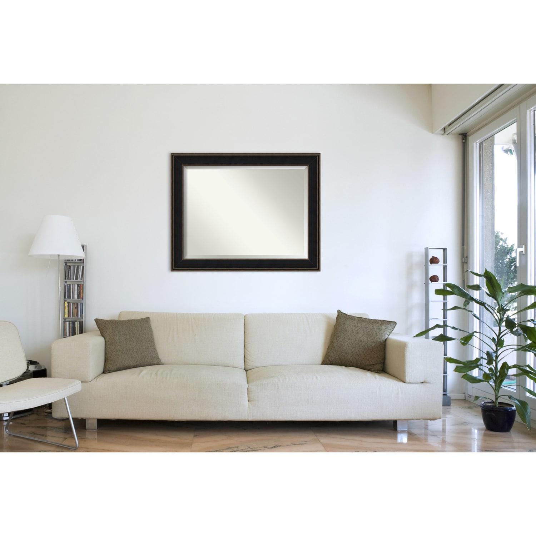 Wall Mirror Oversize Large, Mezzanine Espresso 48 X 38 Inch