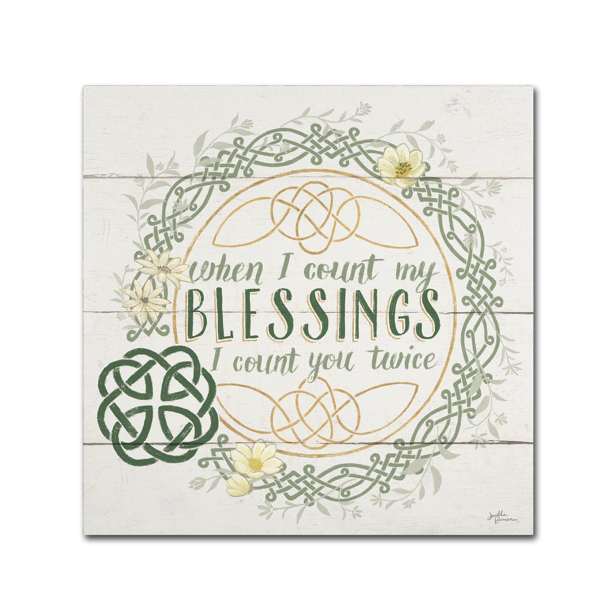Shop Janelle Penner \'Irish Blessing II\' Canvas Art - On Sale - Free ...