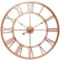 Infinity Instruments Champagne Luxe; a 28-in Rose Gold Wall Clock