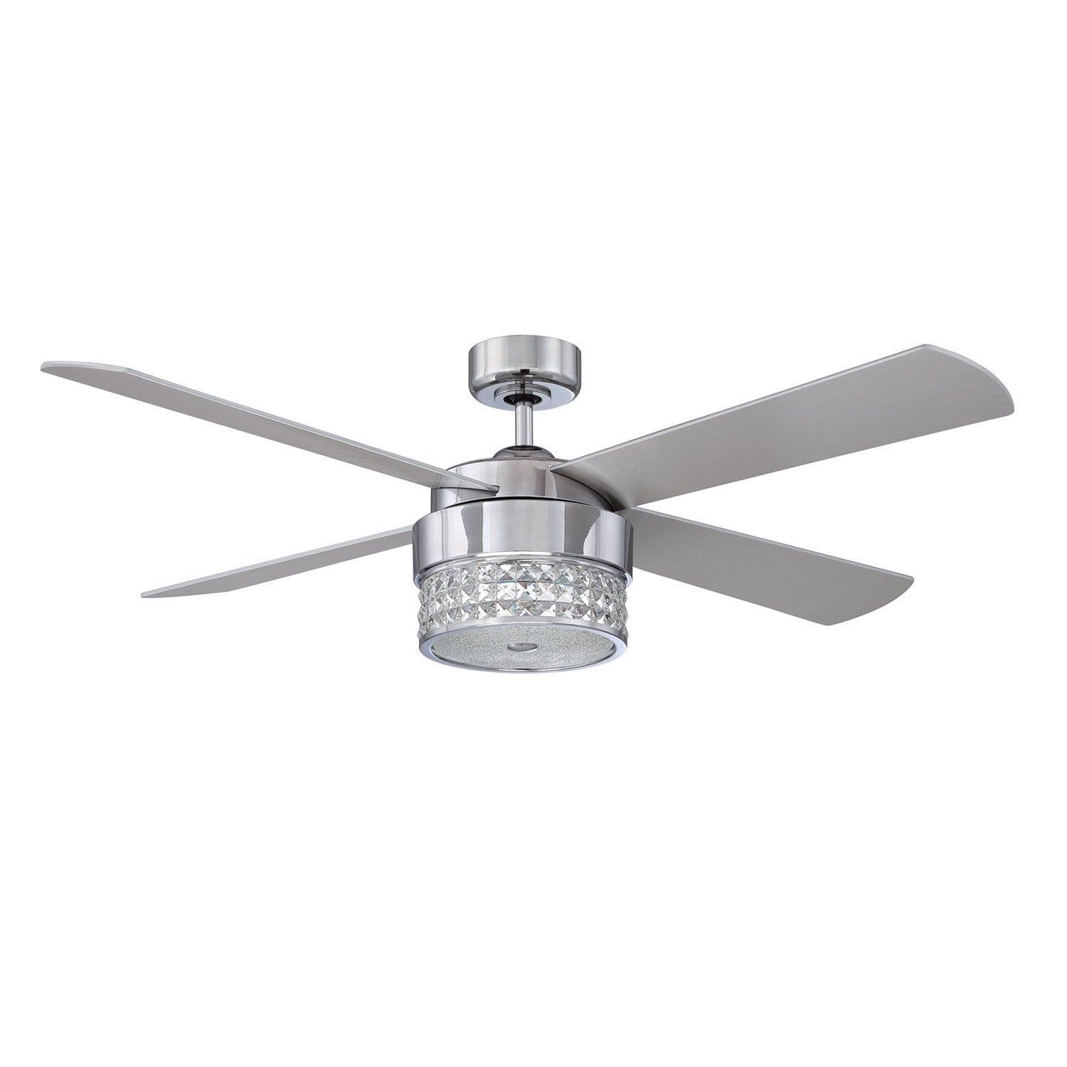 Celestra Chrome and Optic Crystal 52 inch Ceiling Fan Free
