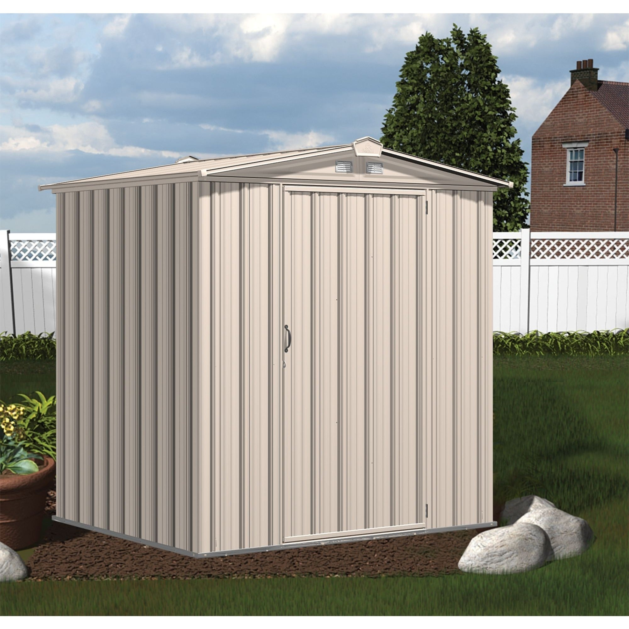 Shop Arrow Sheds EZEE Shed Galvanized Steel Storage Shed   Free Shipping  Today   Overstock.com   15648171