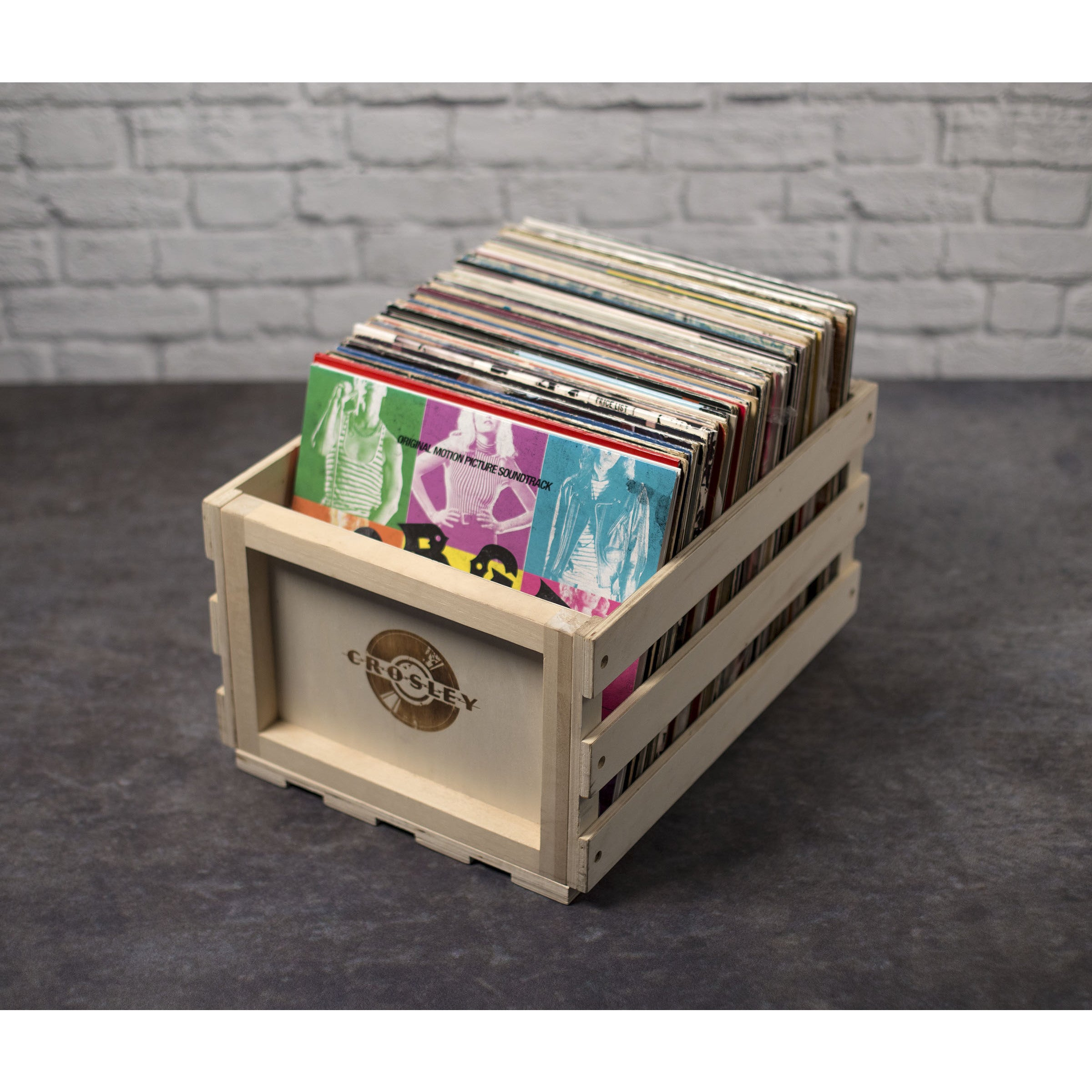 Merveilleux Shop Wood Record Storage Crate  Natural   Free Shipping On Orders Over $45    Overstock.com   15648357