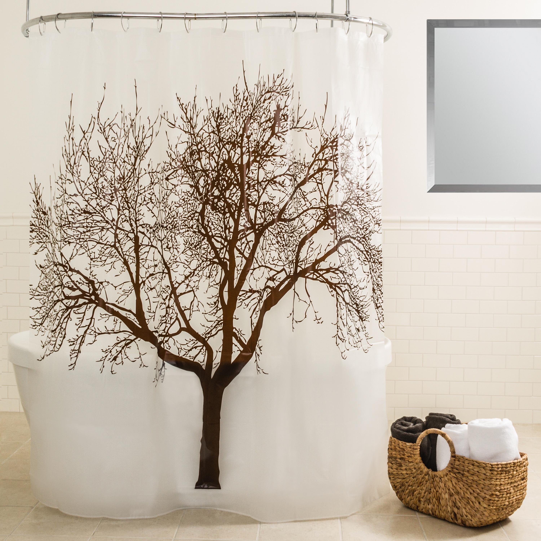 Shop Splash Home Tree Mocha Shower Curtain