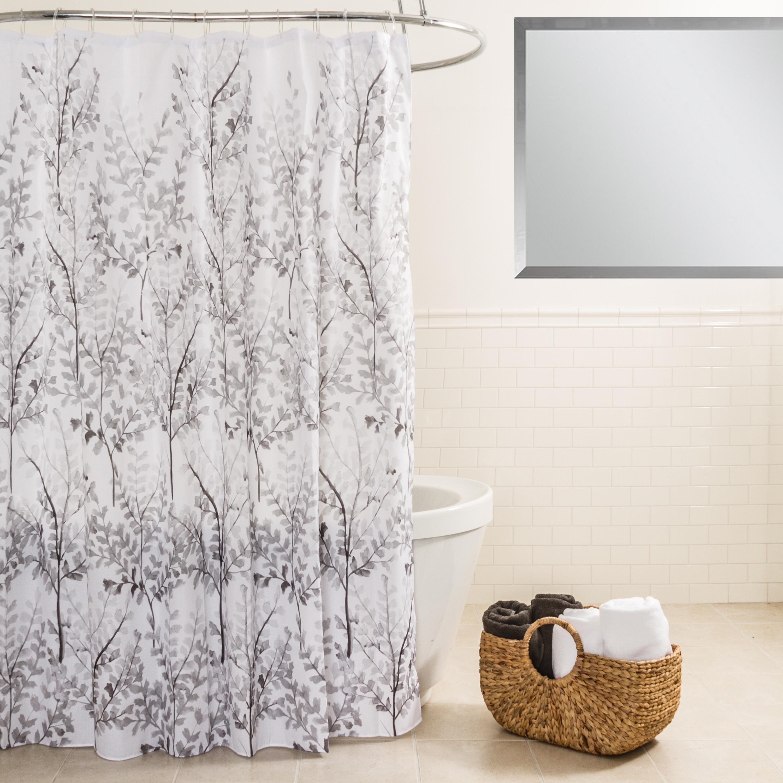 Shop Splash Home Yin Grey Fabric Shower Curtain - Free Shipping On ...