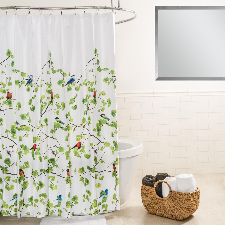 Shop Splash Home Terrasse Botanical Fabric Shower Curtain