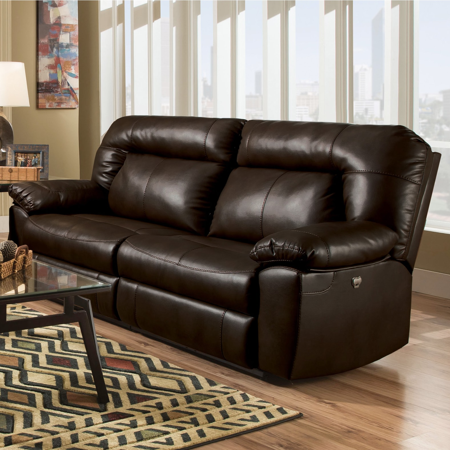 Logan Oversized 90 Inch Two Seat Dual Reclining Sofa   Free Shipping Today    Overstock   22082418