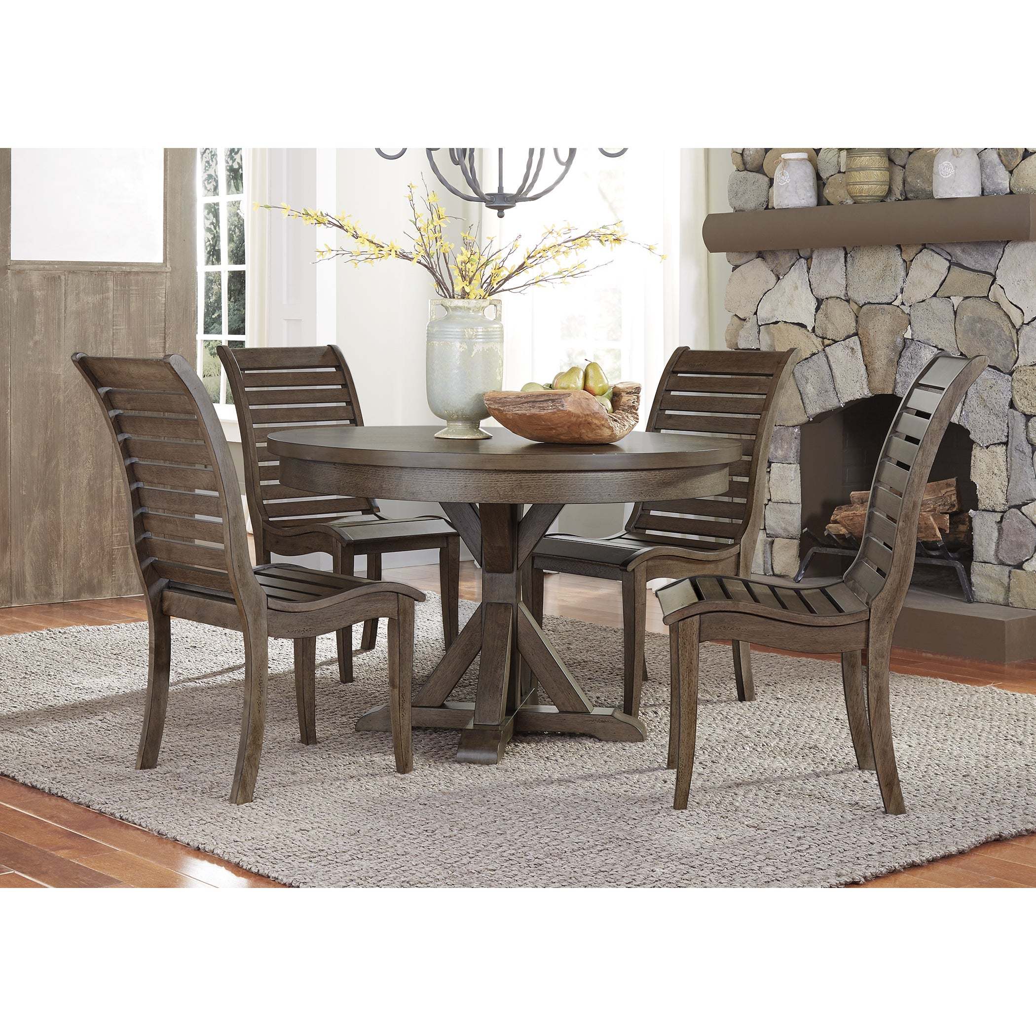 Bayside Washed Chestnut 48x48 Round Table Free Shipping Today