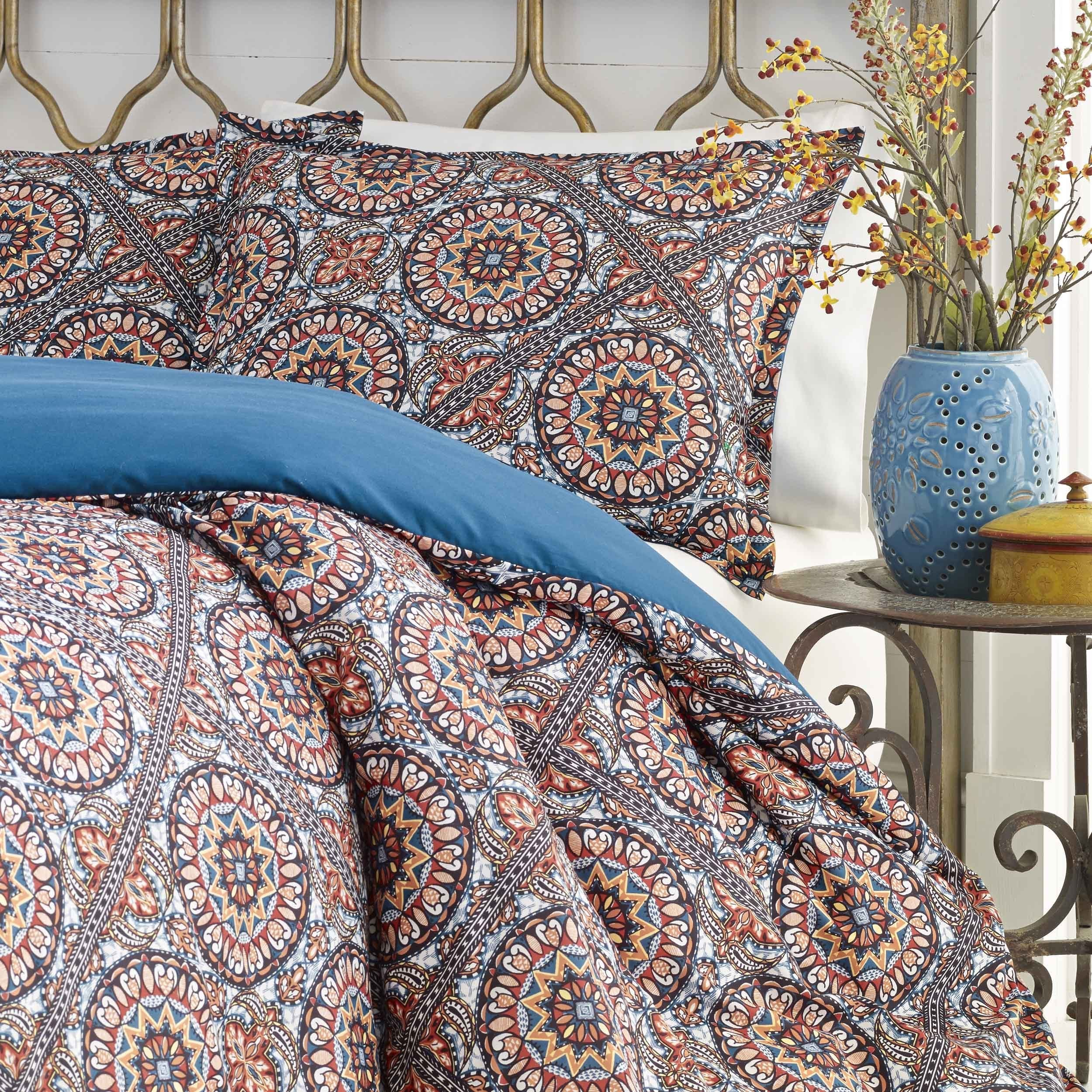 Shop Azalea Skye Sitka Suzani Duvet Cover Set   Free Shipping On Orders  Over $45   Overstock.com   15688455
