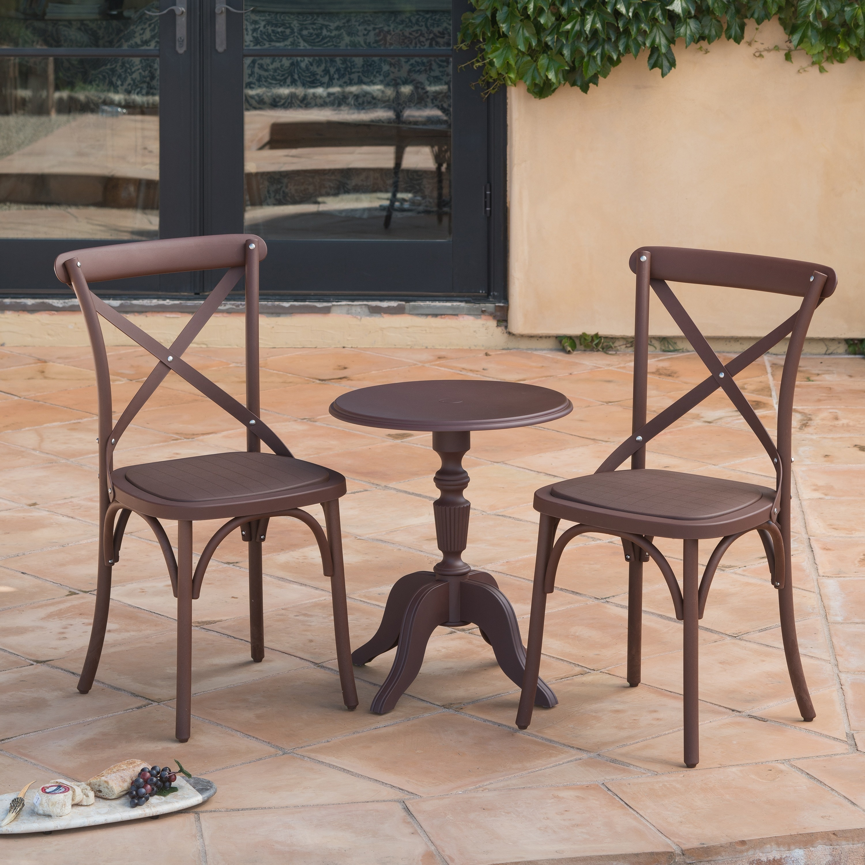 Corvus Cross Back Dining Chair Set Of 2 Free Shipping Today 15805931