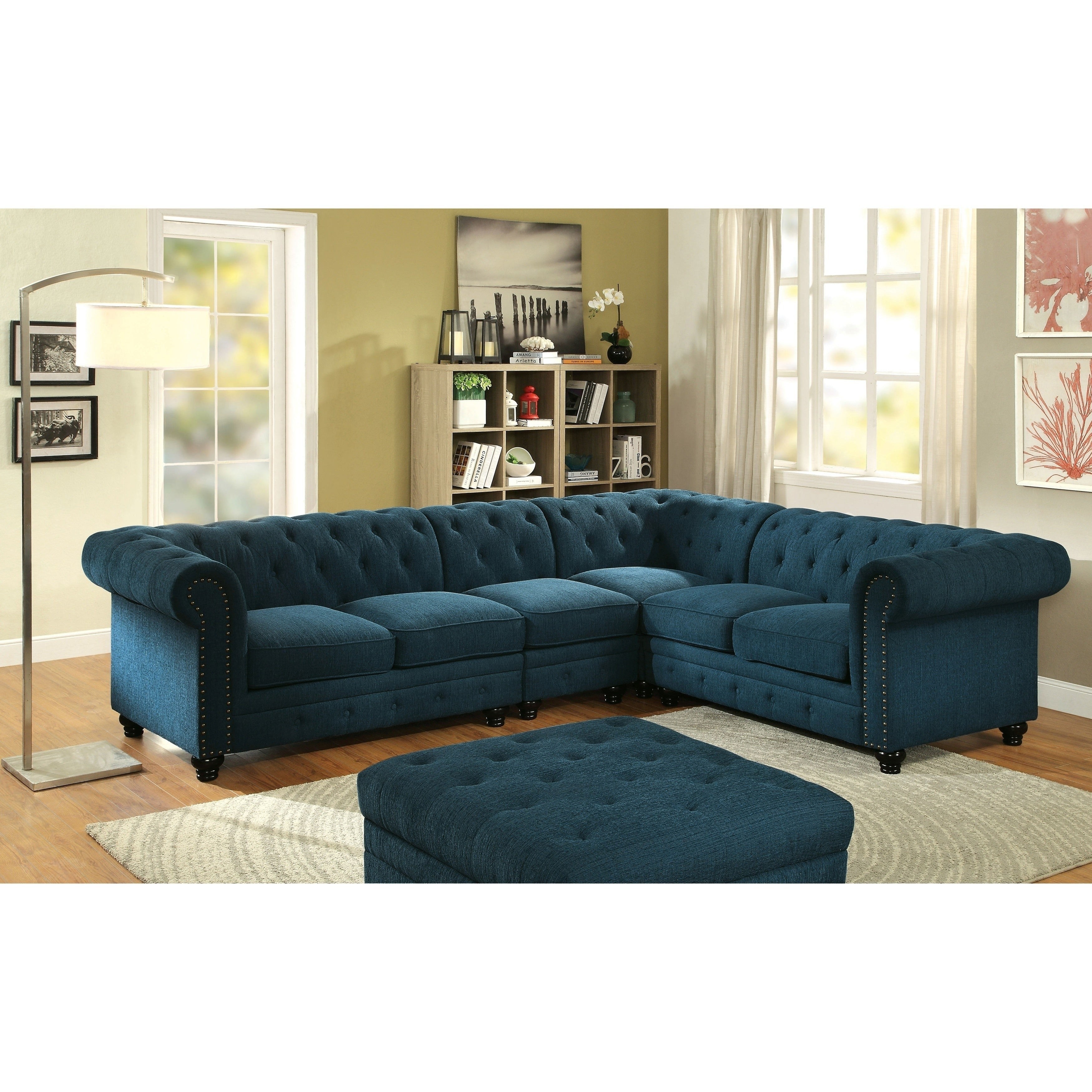 386277324261 Shop Sylvana Traditional Tufted 2-Piece Sectional and Chair Set by FOA - On  Sale - Free Shipping Today - Overstock - 15807048