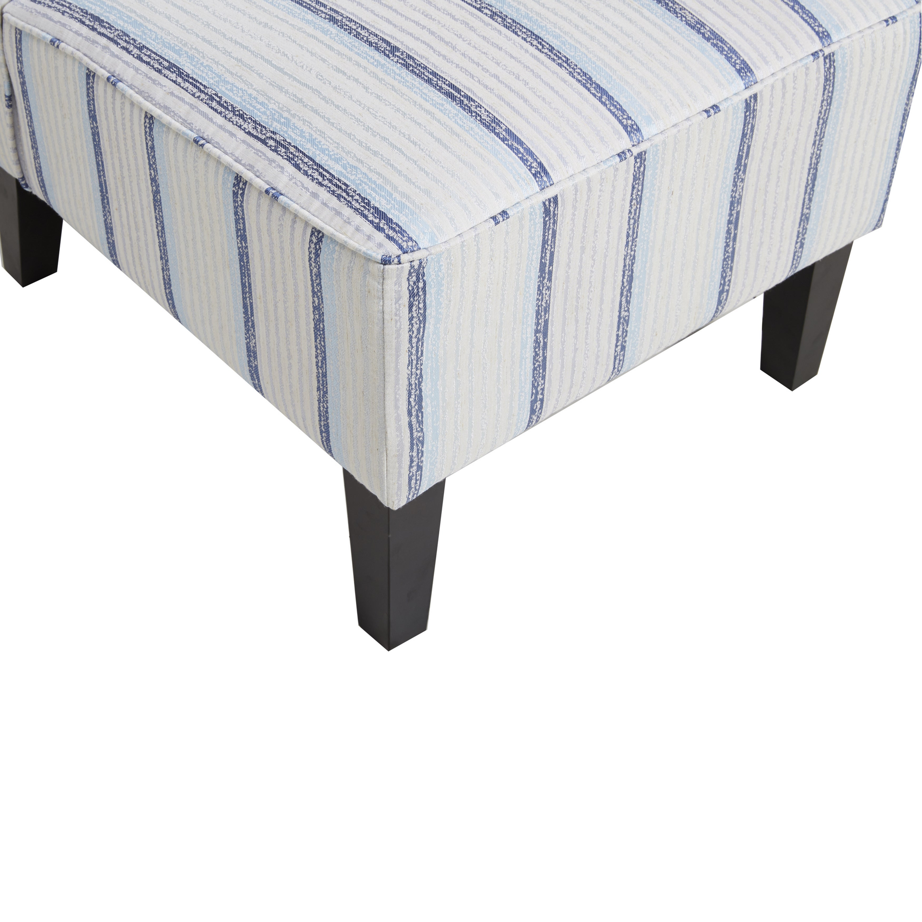 Blue Striped Armless Slipper Chair   Free Shipping Today   Overstock    22222321