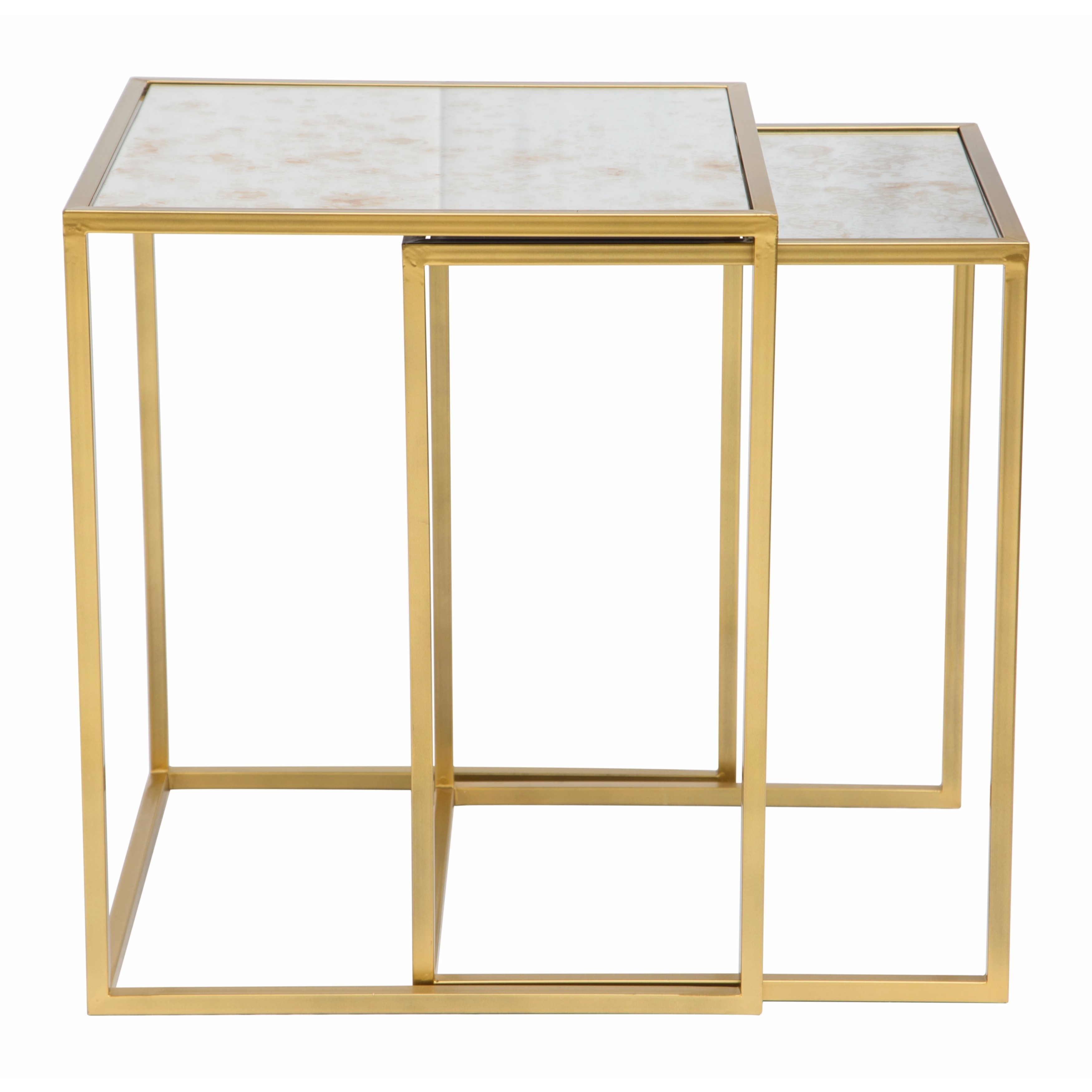 Zuo Calais Brass Nesting Tables (Set of 2) - Free Shipping Today -  Overstock.com - 22226391