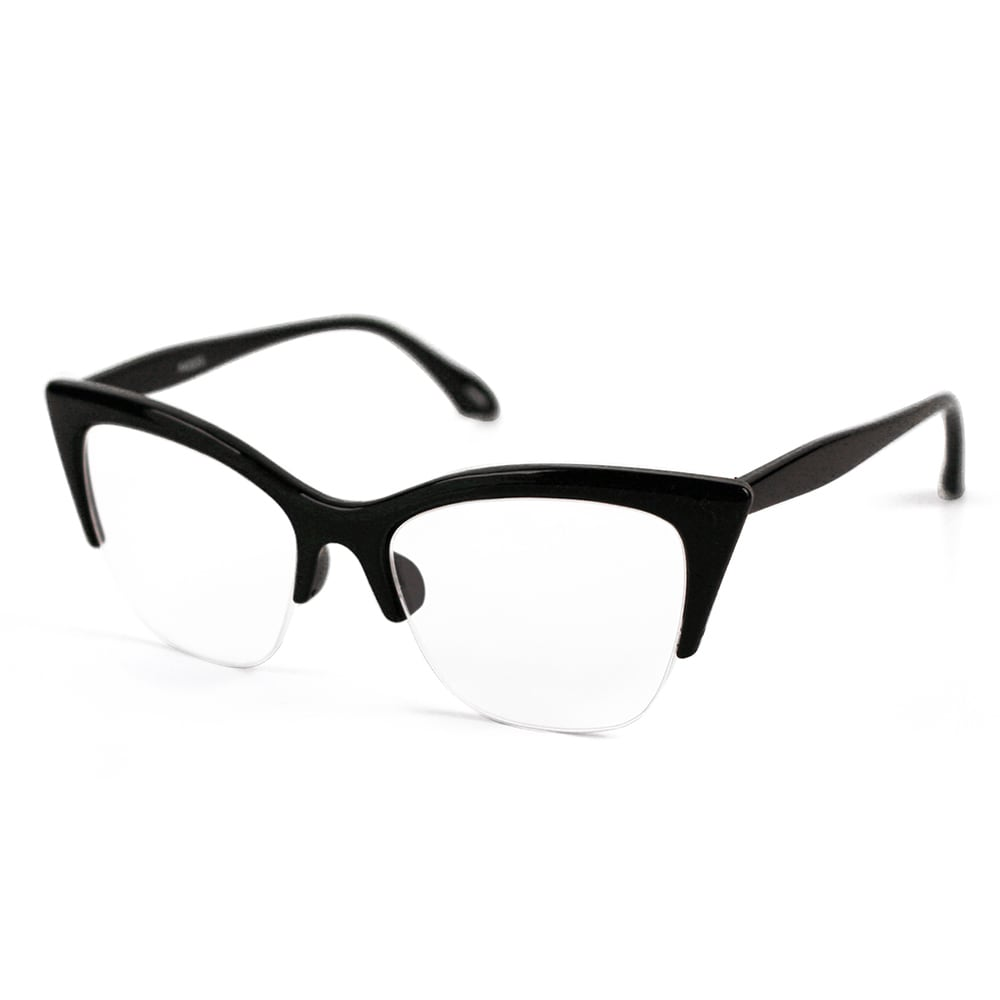 fdc5d97fbfcde Shop Pop Fashionwear P4022CL 1950 s Vintage Style Cat Eye Clear Lens Glasses  - Free Shipping On Orders Over  45 - Overstock - 15811944