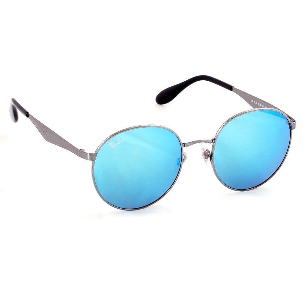 9f0c464d9ac07 Shop Ray-Ban RB3537 004 55 Men s Gunmetal Frame Blue Mirror Lens Sunglasses  - Free Shipping Today - Overstock - 15811992