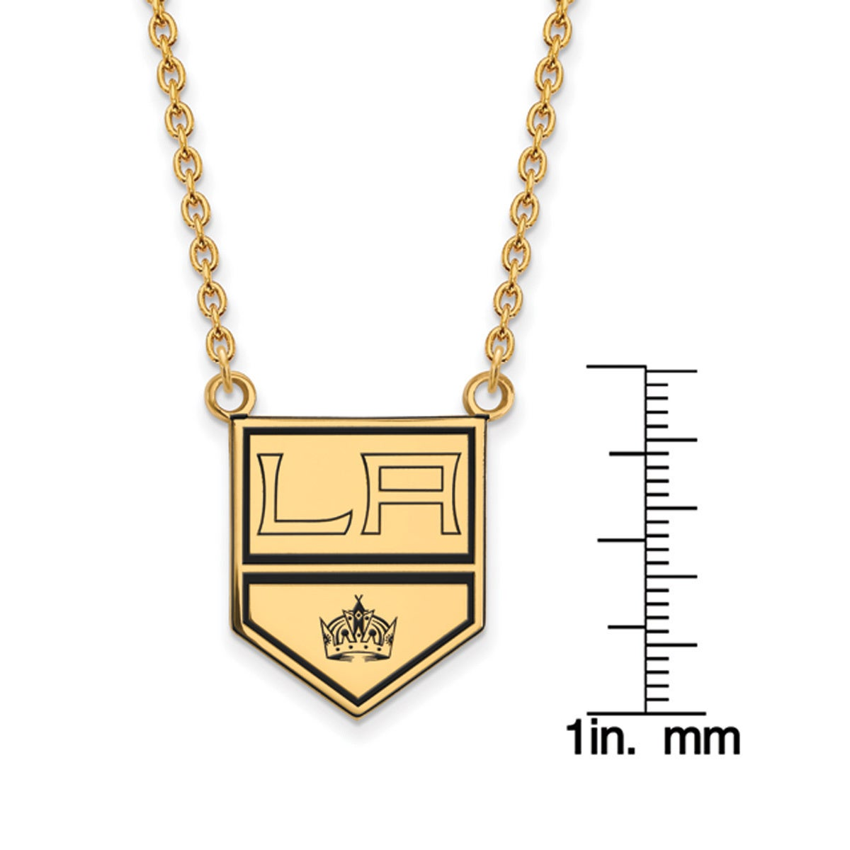 969bcbb8 Shop Versil Sterling Silver with Gold Plating NHL LogoArt Los Angeles Kings  Large Enamel Pendant with Necklace - Free Shipping Today - Overstock -  15856741