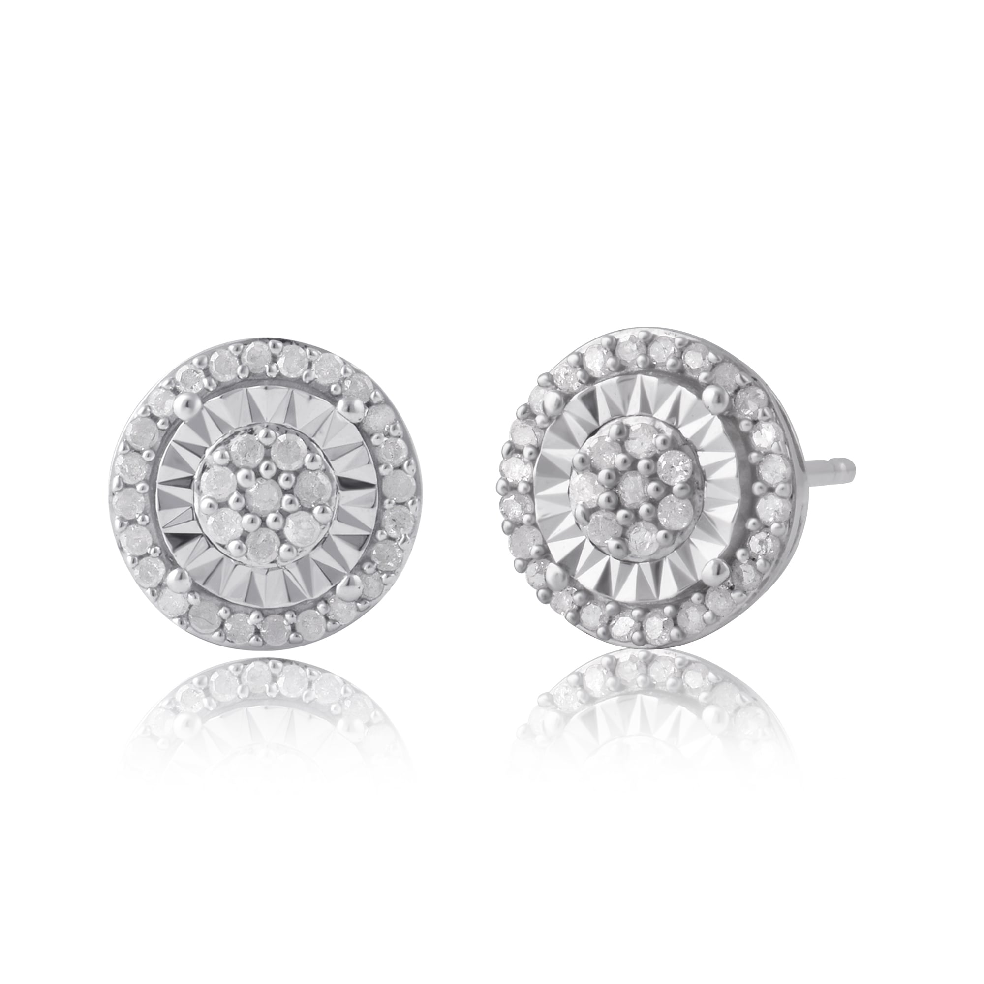 diamond shape womens gold stud total earrings round image white cushion