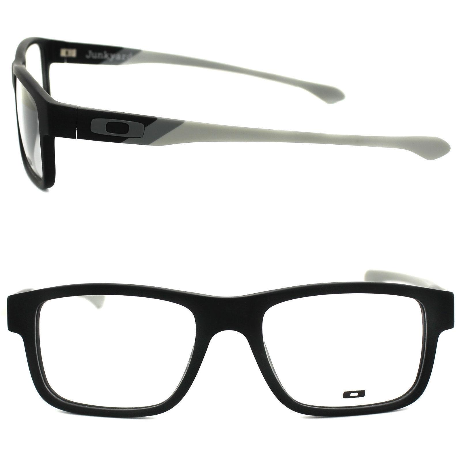 Oakley Junkyard OX1074 Eyeglasses Black Grey Frame Free
