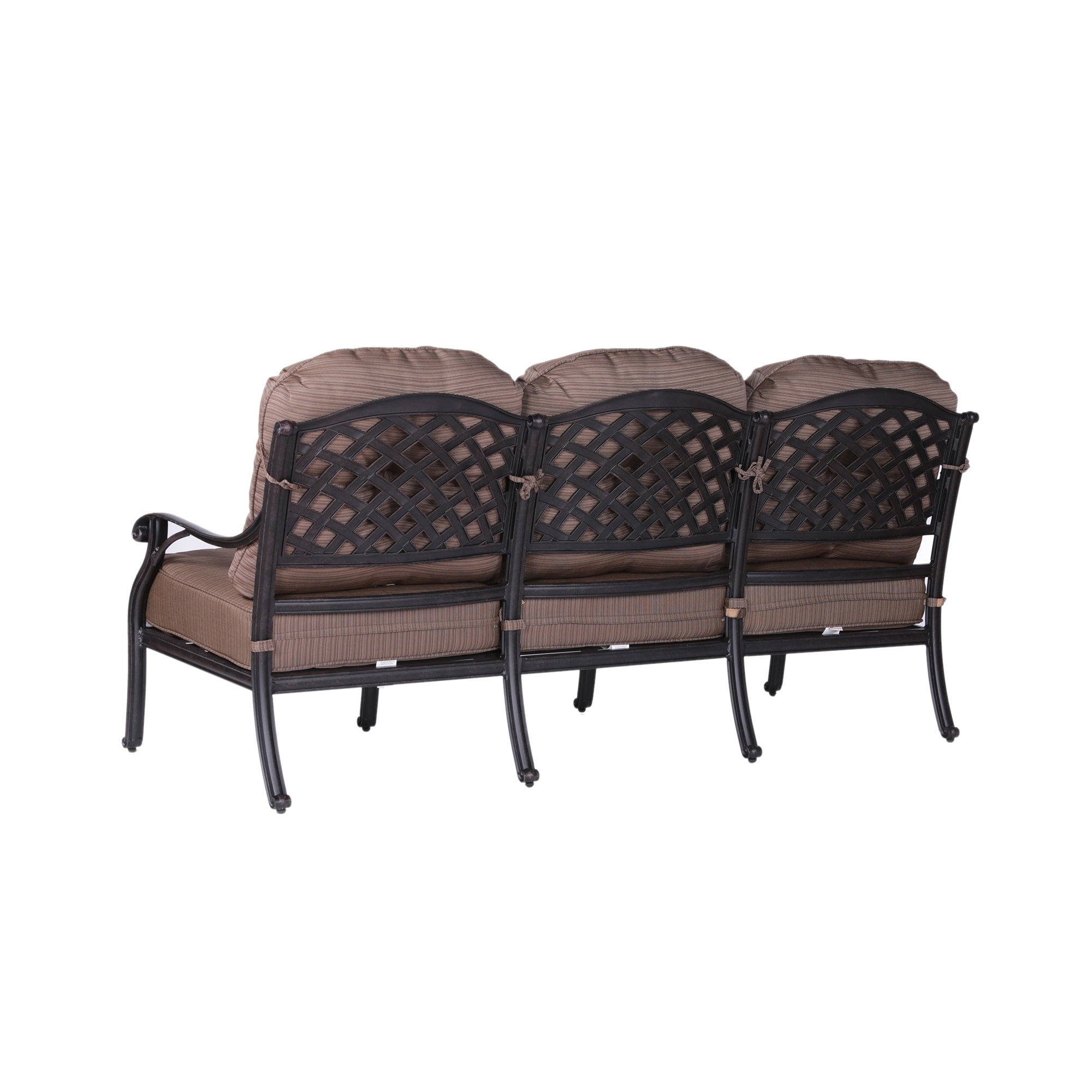 Yorkshire Aluminum High-back Sofa with Cushions - Free Shipping ...