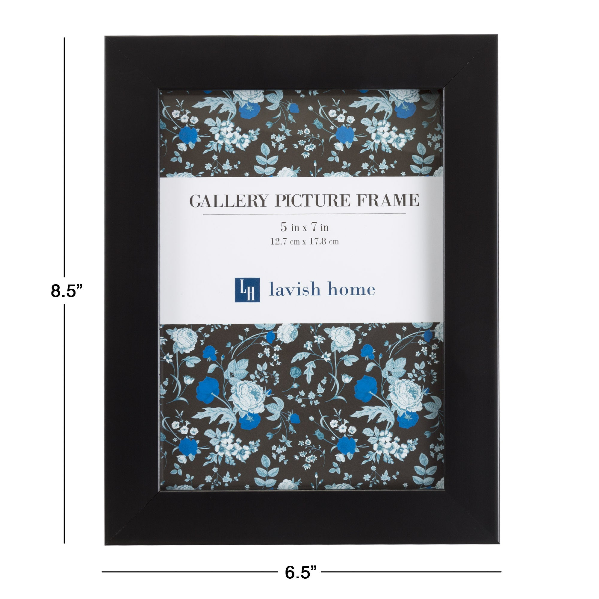 Picture frame set 5x7 frames pack for picture gallery wall with picture frame set 5x7 frames pack for picture gallery wall with stand and hanging hooks set of 6 by lavish home black free shipping on orders over 45 jeuxipadfo Gallery
