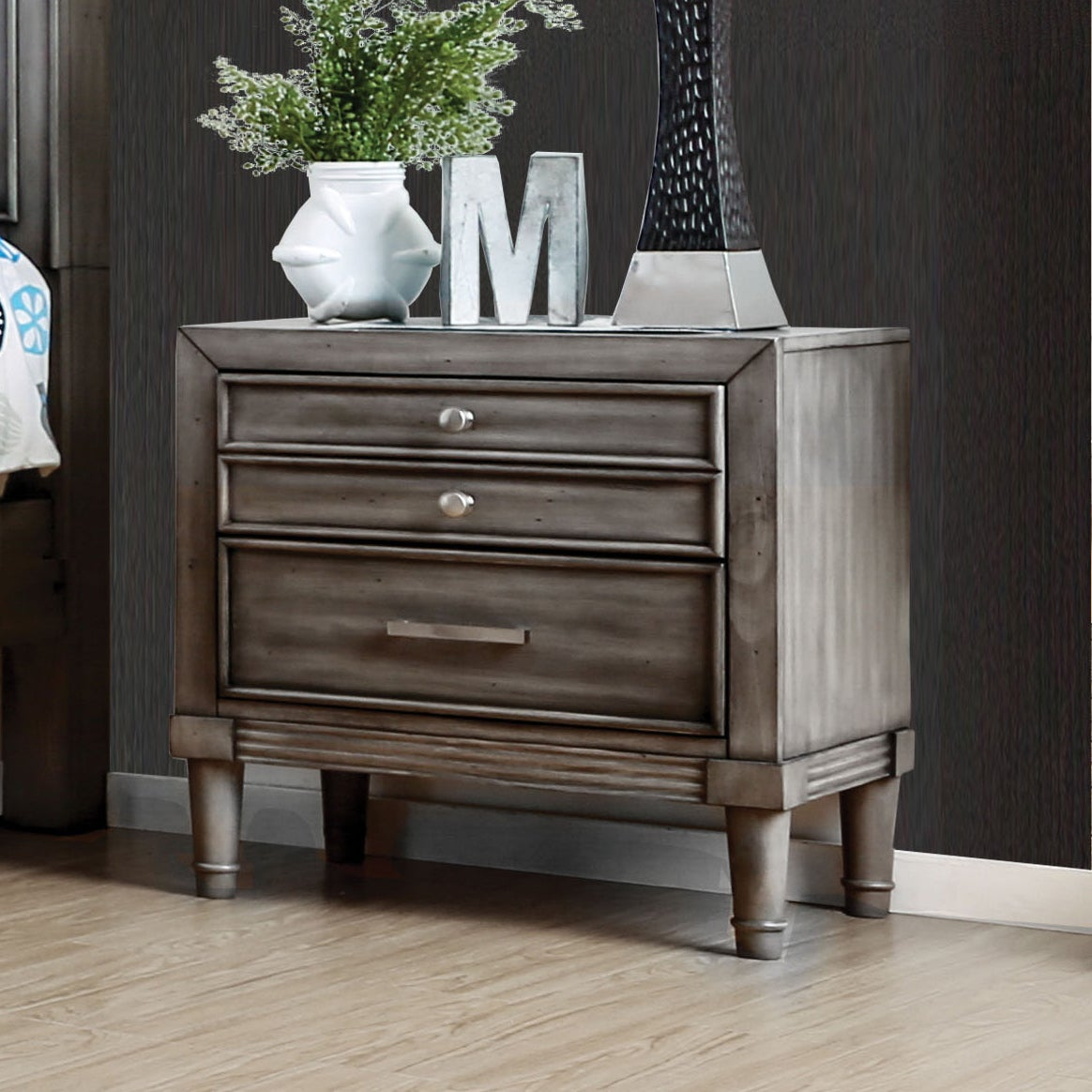 stand hidden drawer night drawers whidden la inc nightstand homelegance with bedroom w