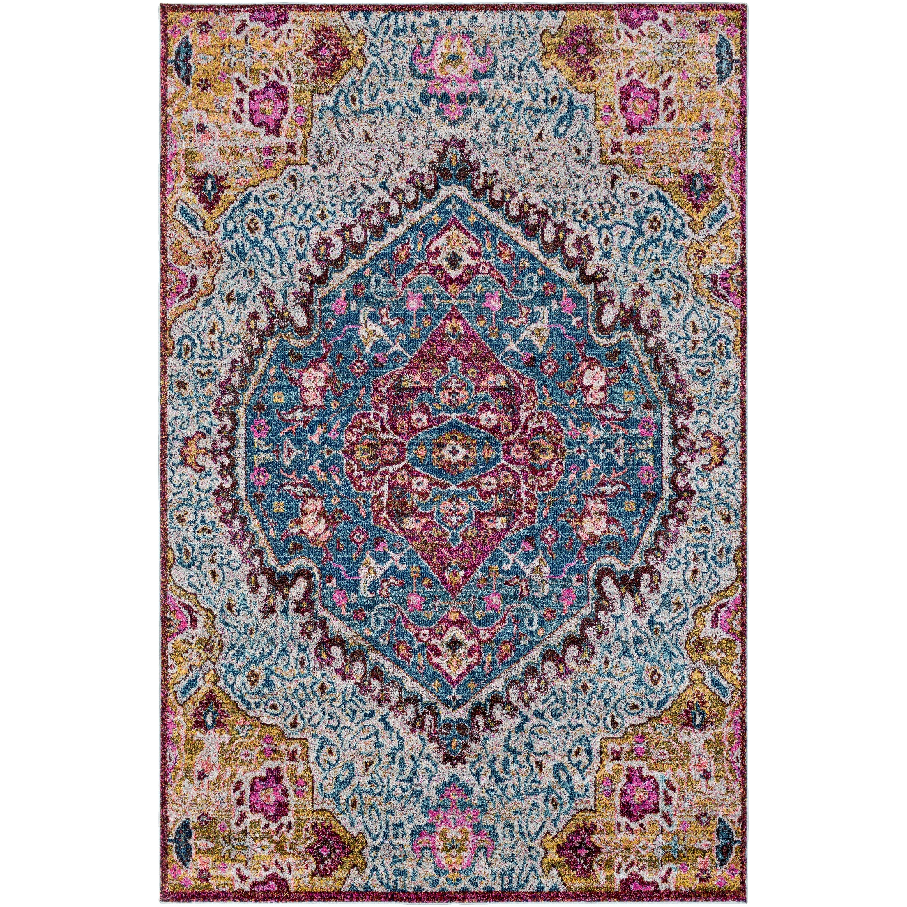 Picture of: Amelia Persian Traditional Oriental Blue Purple Area Rug 5 3 X 7 3 Overstock 15870198