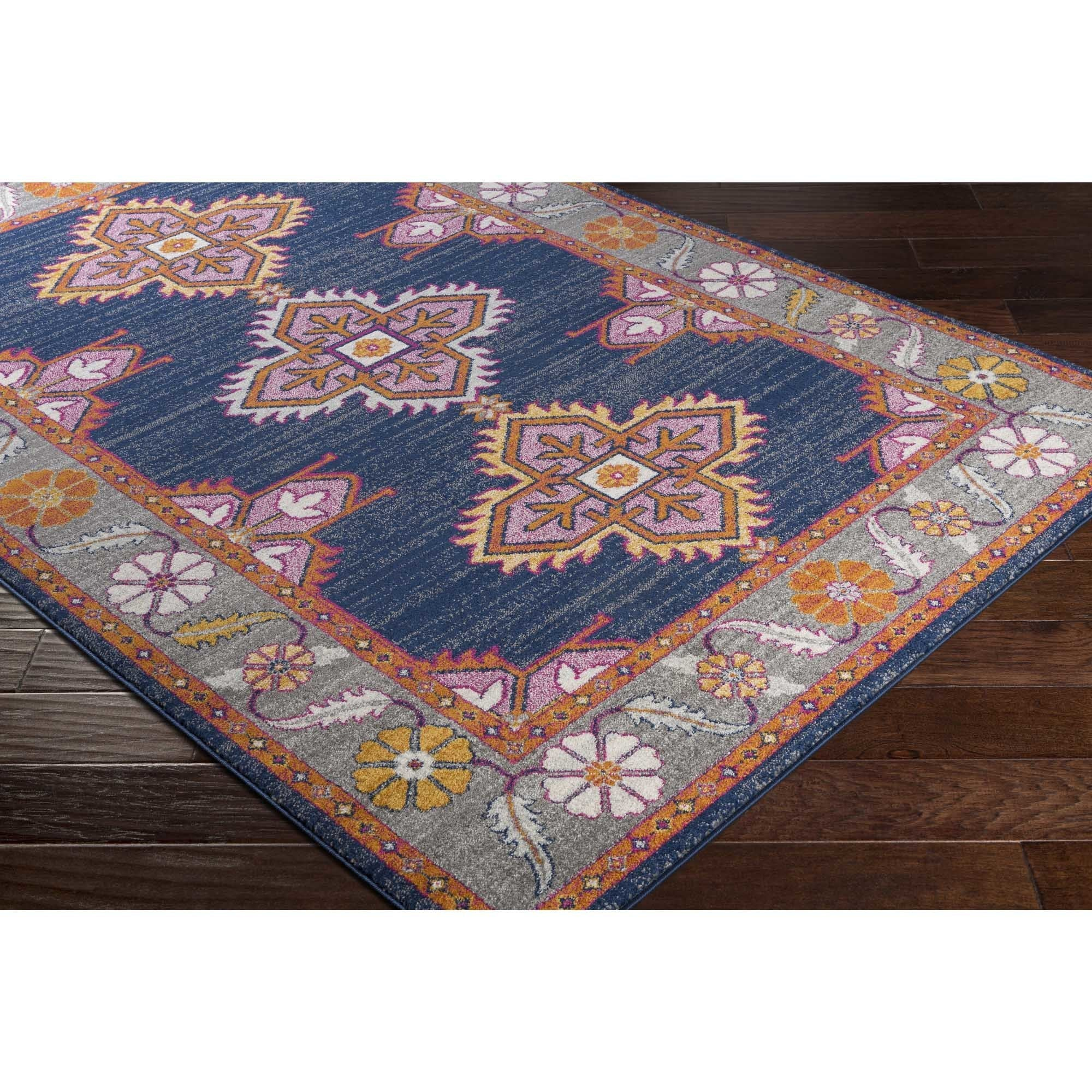 Haute Hali Persian Boho Navy Pink Area Rug 7 10 X 3 On Free Shipping Today Com 15870779