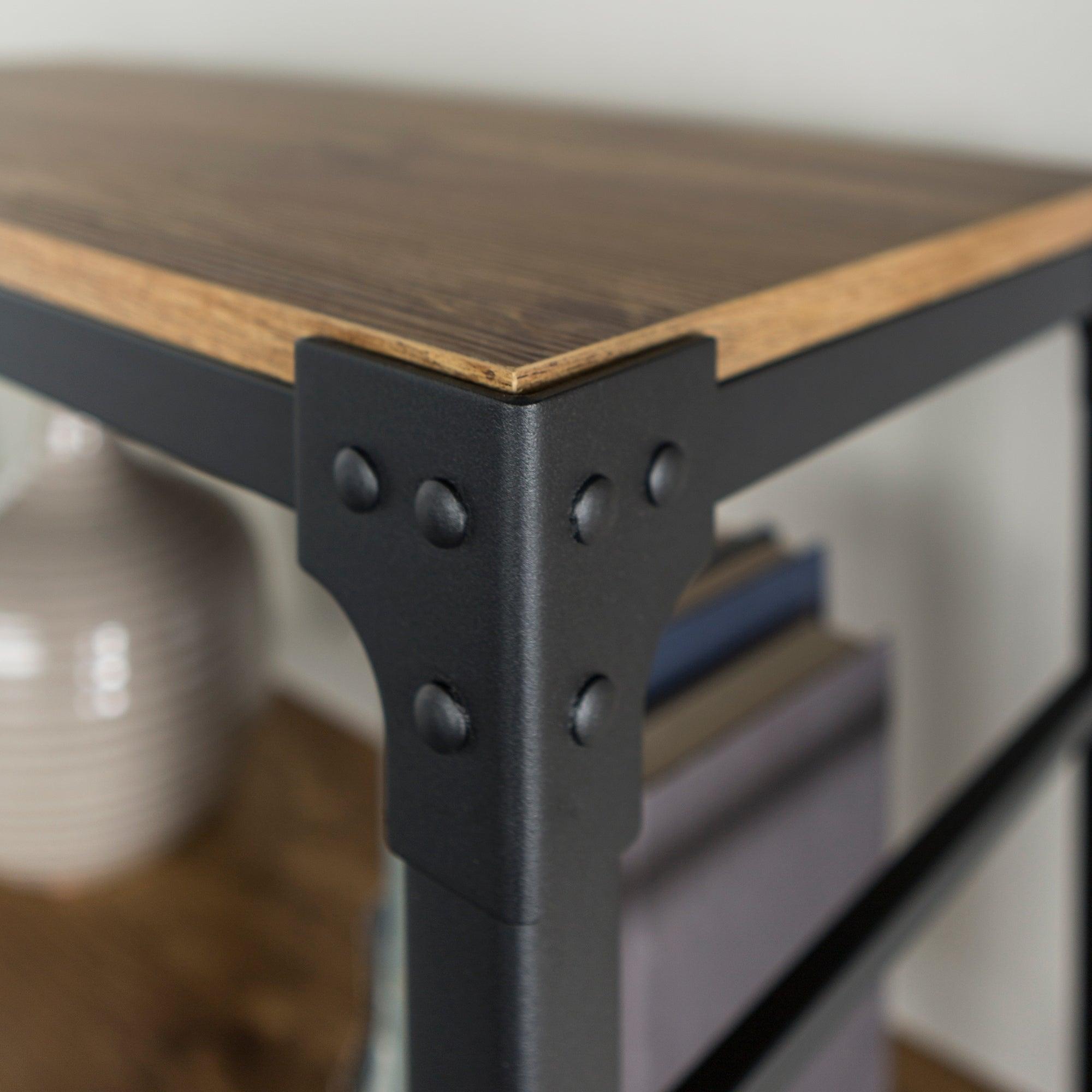 table gray the end kujawa iron garden free barn modern angle today angled bookshelf product shipping inch home overstock