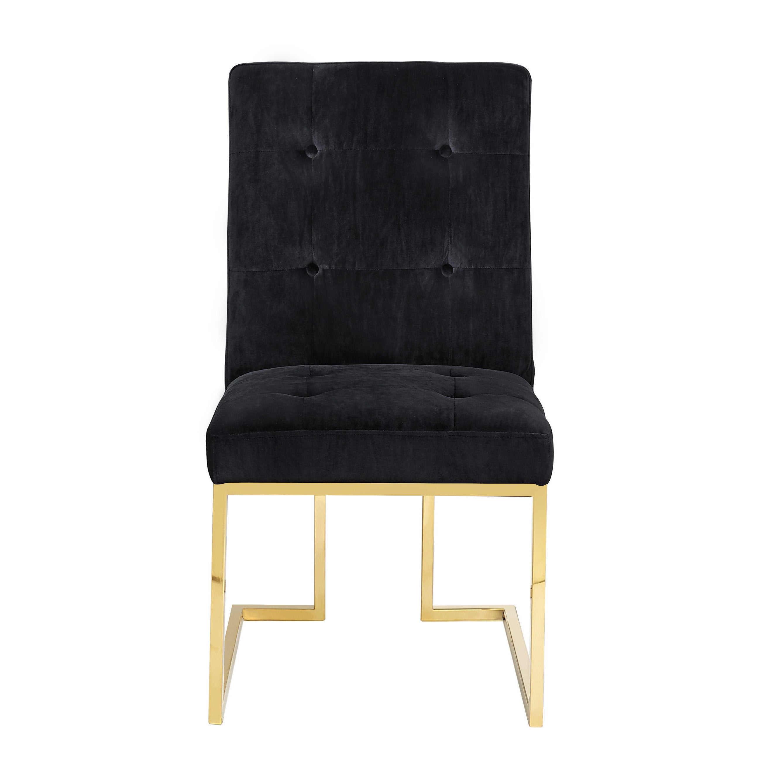Genial Shop Akiko Black Velvet Chairs (Set Of 2)   Free Shipping Today    Overstock.com   15871159