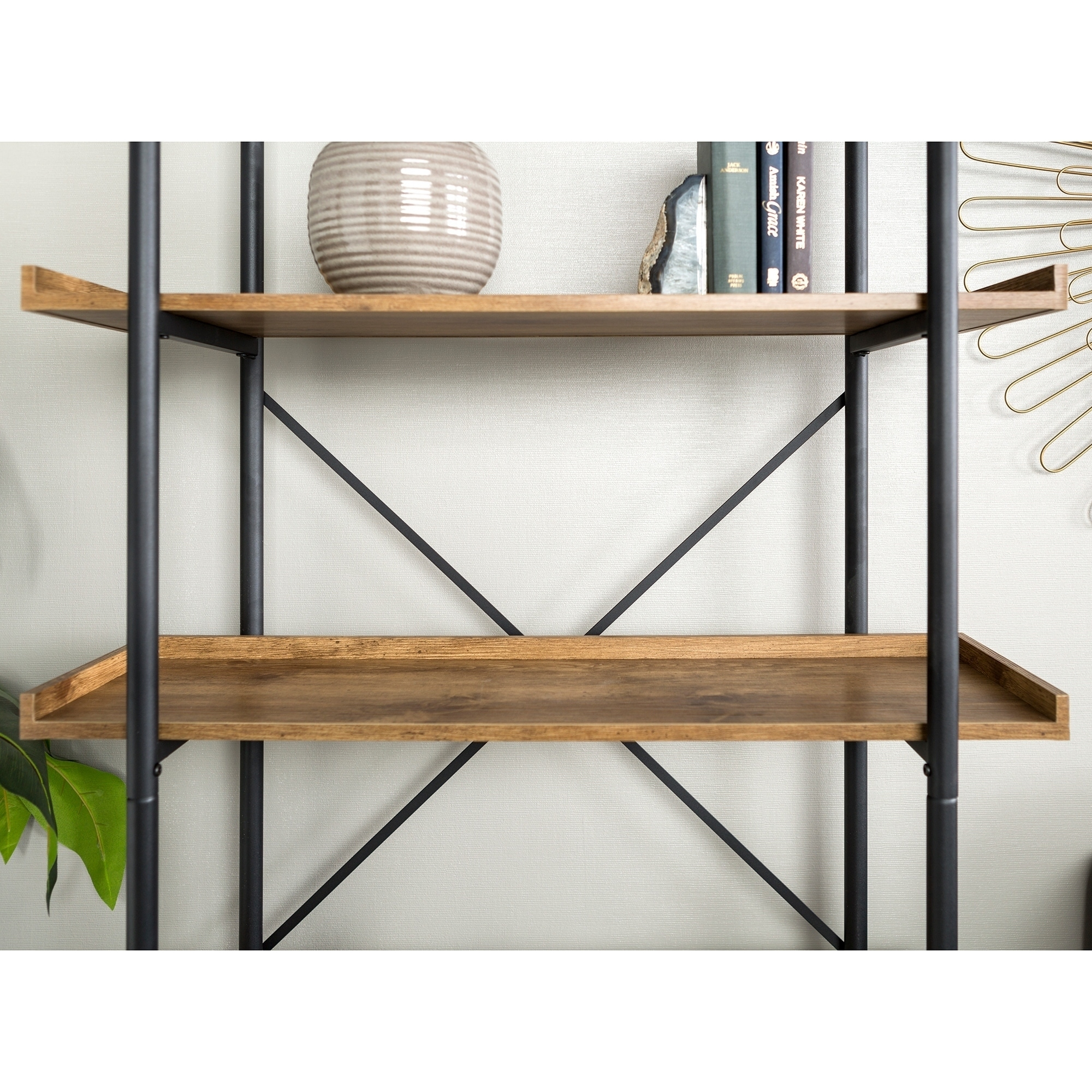 Shop Carbon Loft Edelman 68 Inch Urban Pipe Bookshelf