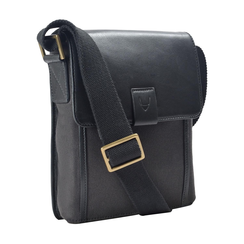 Shop Hidesign Aiden Small Canvas   Leather Crossbody Handbag - Free ...