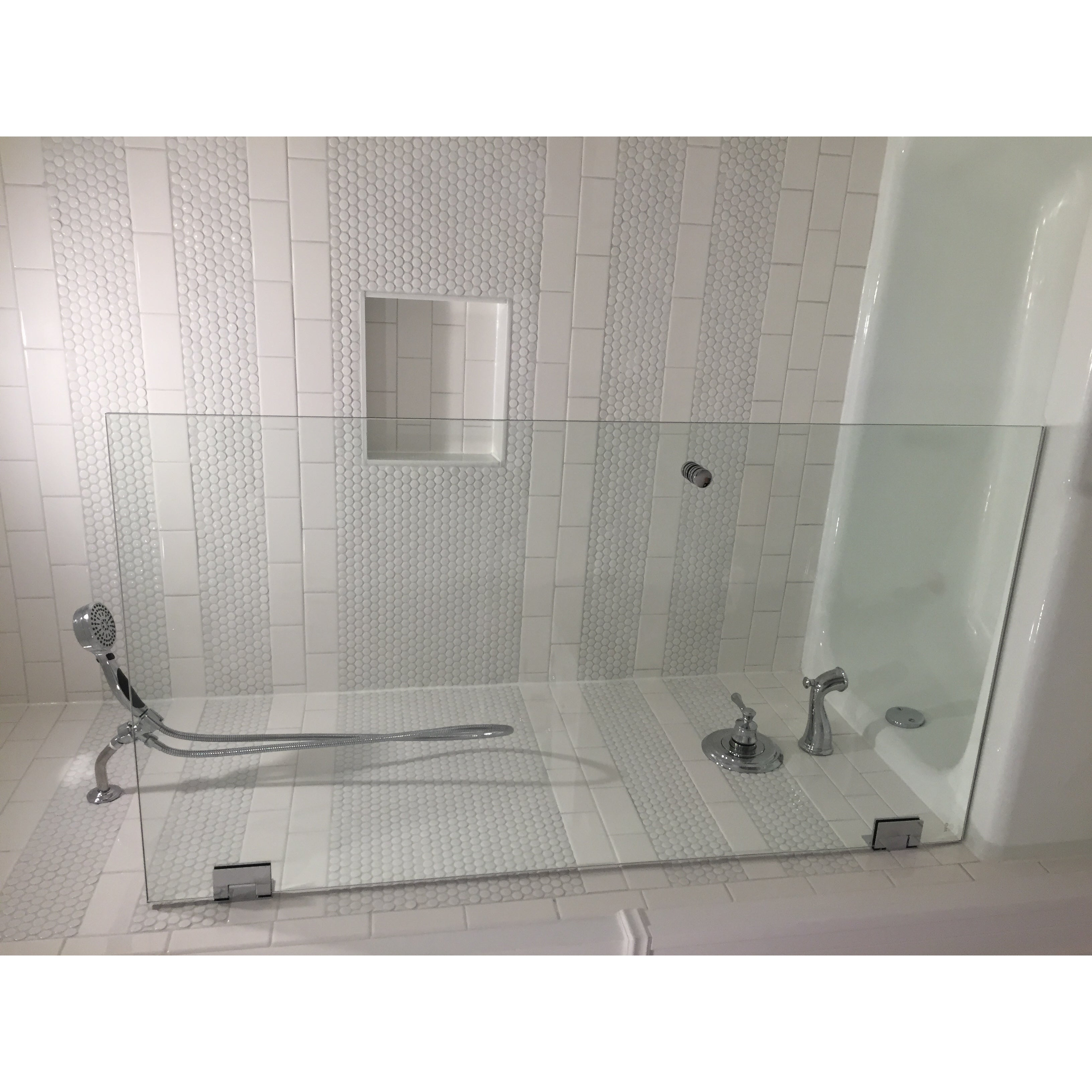 Shower Bath Base shop glass warehouse clear glass frameless shower bath door - free