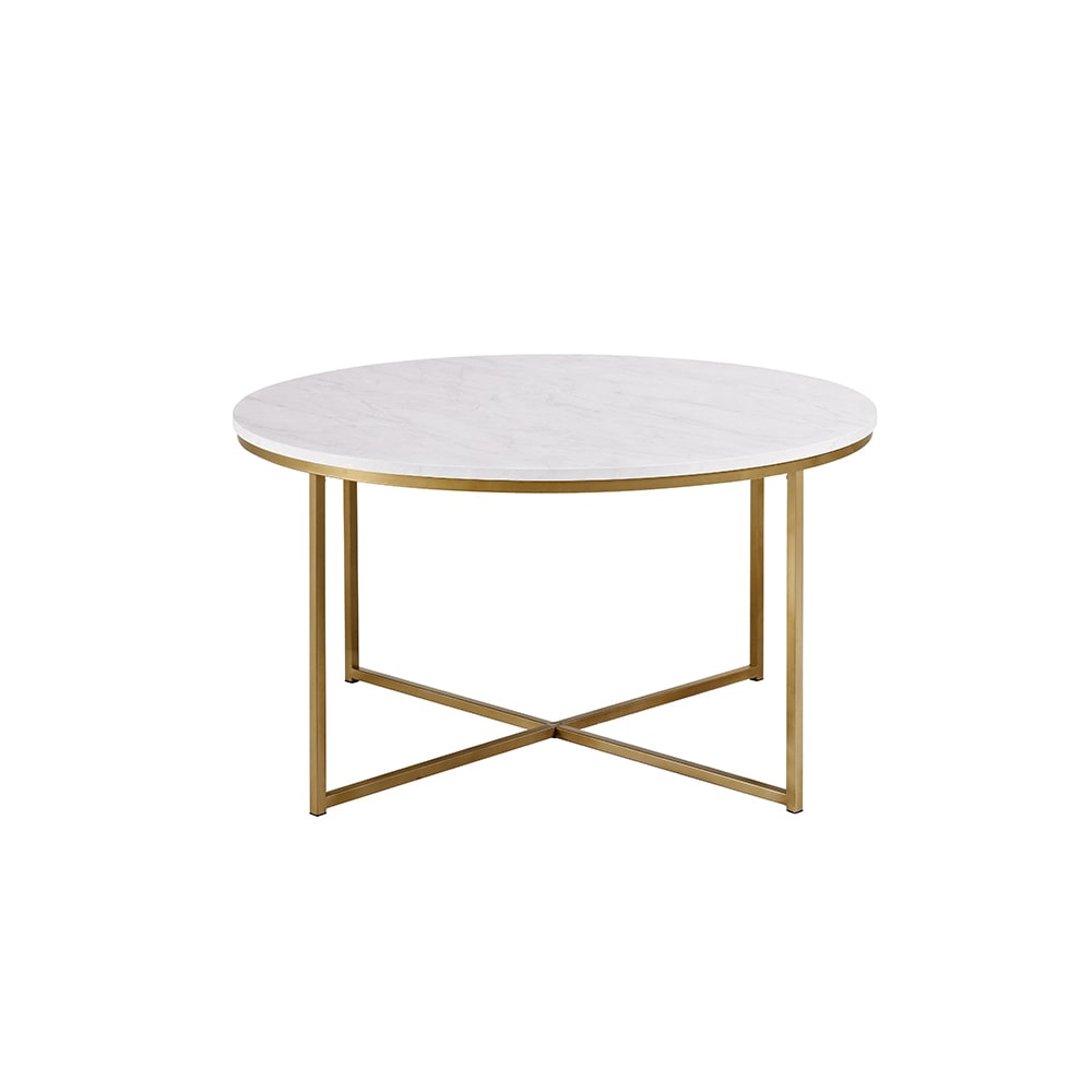 Clay Alder Home Toston 36 Inch Coffee Table With X Base   Free Shipping  Today   Overstock.com   22280994