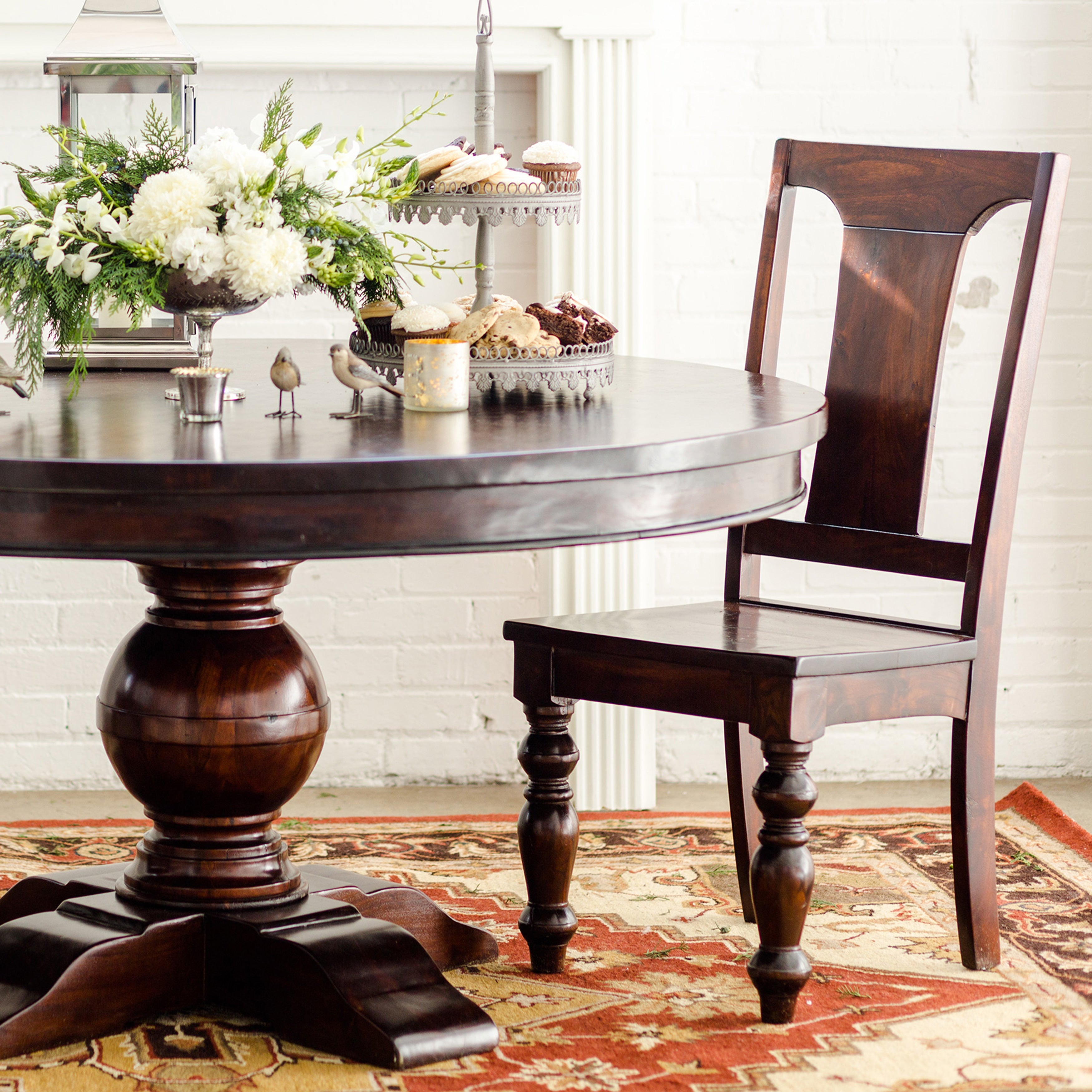 Monticello 60 inch Round Dining Table Free Shipping Today