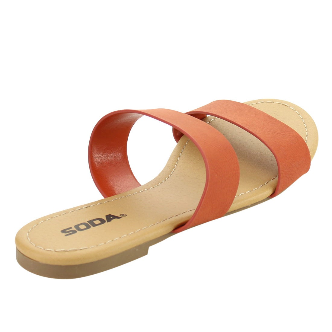 15c8a35b7 Shop Soda IF10 Women s Double Strap Slide In Flat Beach Sandals - Free  Shipping On Orders Over  45 - Overstock - 15894284