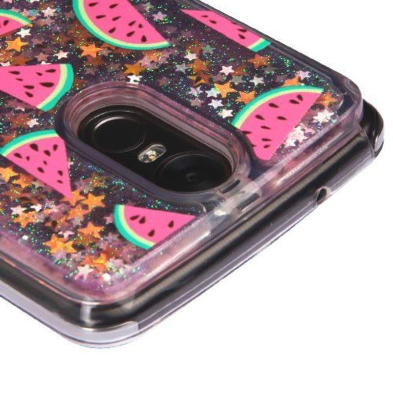 Insten Multi-Color Watermelon Quicksand Hard Snap-on Glitter Case Cover For  LG Stylo 3 LS777/ K10 Pro/ Stylus 3
