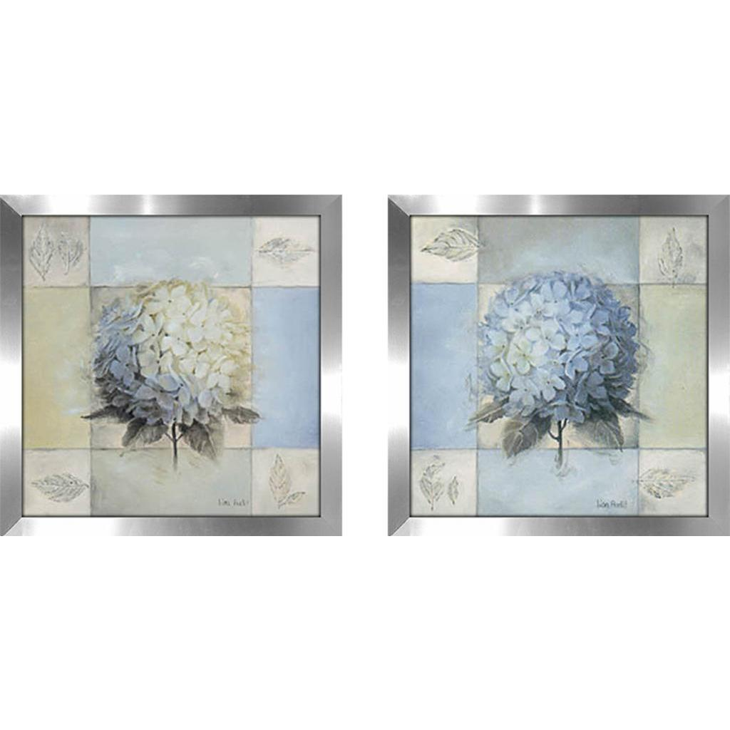 Shop blue hydrangea wall art set of 2 matching set on sale free shipping today overstock com 15902877