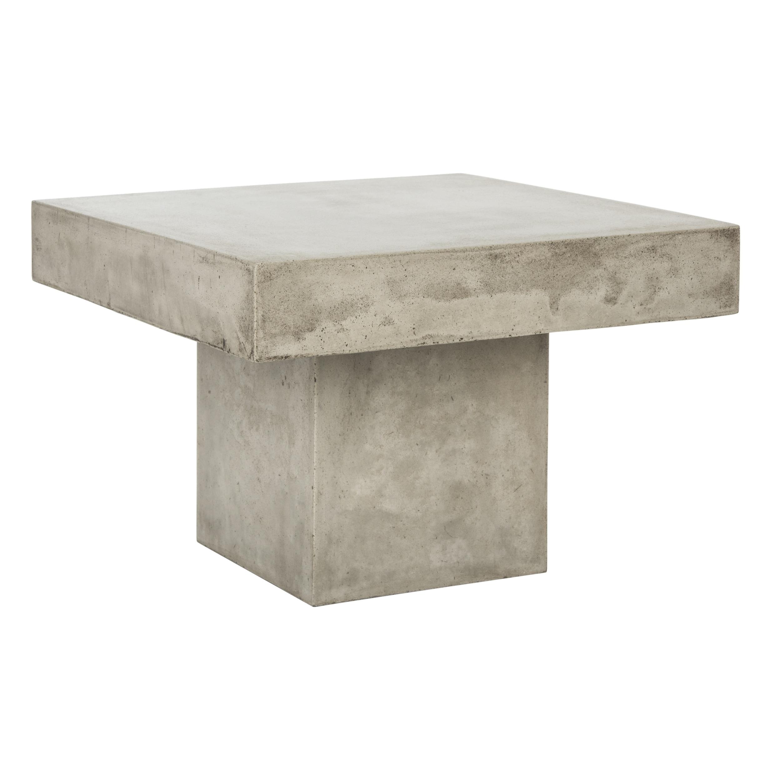 Safavieh Tallen Dark Grey Modern Concrete Indoor Outdoor Coffee Table 23 6 X 15 8