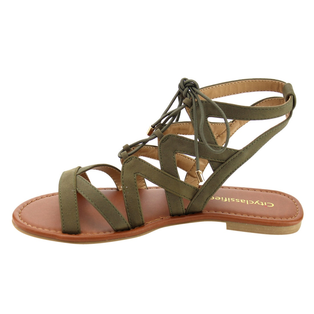 2ff5ec4946462f Shop CityClassified ID44 Women Lace Up Criss Cross Strappy Backless Flat  Sandals - Free Shipping On Orders Over  45 - Overstock - 15914647
