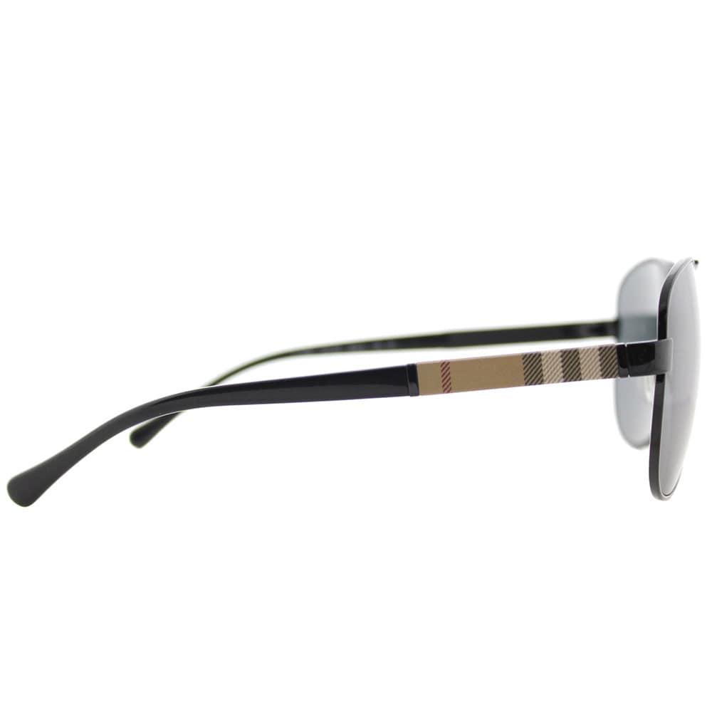 ce8578a5d1 Shop Burberry BE 3080 100187 Black Metal Aviator Sunglasses Grey Lens -  Free Shipping Today - Overstock.com - 15915494